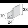 Visuel Profil de Finition U Kerrafront® Gris perle 3 ml