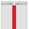 Visuel Éclisse FS202 332 x 35 mm Blanc