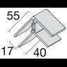 Visuel Profil d'angle Kerrafront® Chêne Blanchi